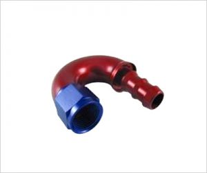 ONE PIECE Push-On HOSE END-180°